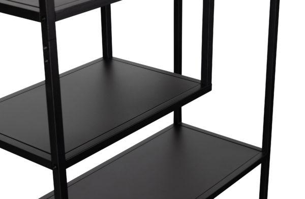 WOOOD Teun Vakkenkast Zwart 85cm Black Kast