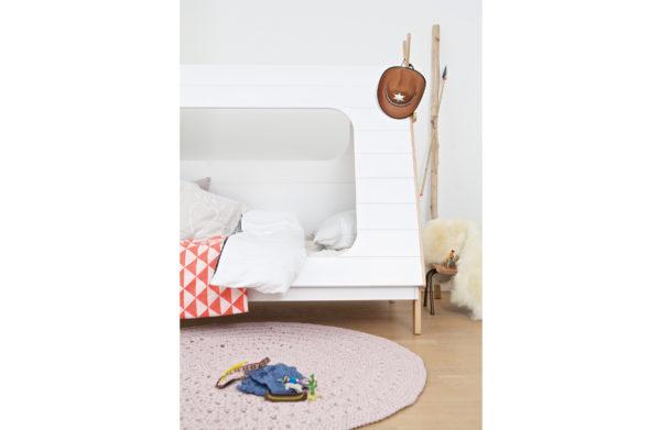 WOOOD Tipi Bed Wit 90x200 Incl Lattenbodem White Ledikant