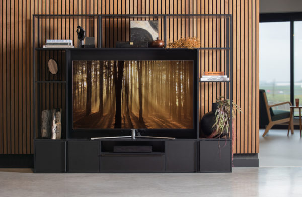 WOOOD Toby Tv Wandmeubel Metaal/mdf Zwart Black Kast