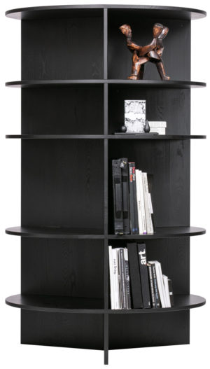 WOOOD Trian Tower Rond Essen Zwart Black Kast
