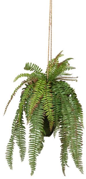 WOOOD Varen Hangende Kunstplant Groen 58cm Green Woonaccessoire