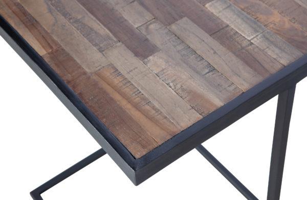 WOOOD Vic Bijzettafel U-vorm Hout/metaal Natural Eettafel