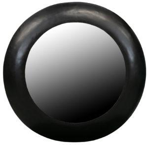 WOOOD Wolf Spiegel Metaal Zwart Ø75cm Black Woonaccessoire