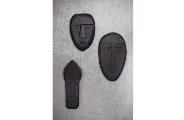 WOOOD Xavi Masker Hout Zwart Black Woonaccessoire