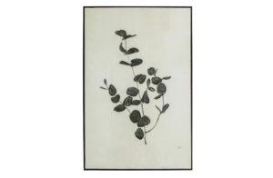 WOOOD Yaro Eucalyptus Kunstlijst Zwart Black Woonaccessoire