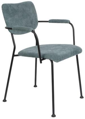 Armchair Benson Grey Blue Zuiver Armstoel 1200202
