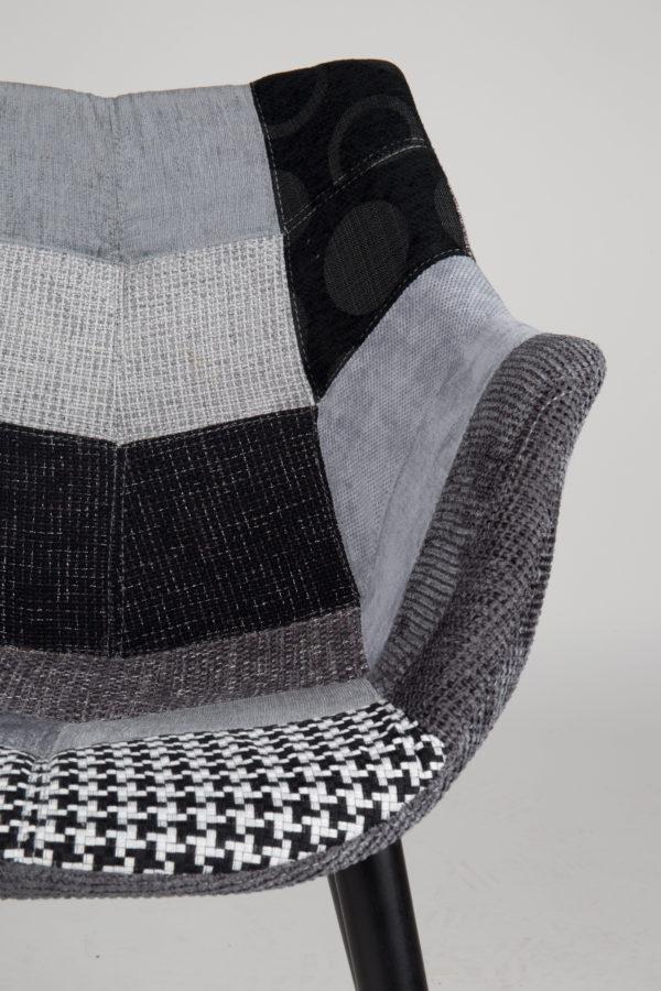 Zuiver Armchair Twelve Patchwork Grey  Armstoel