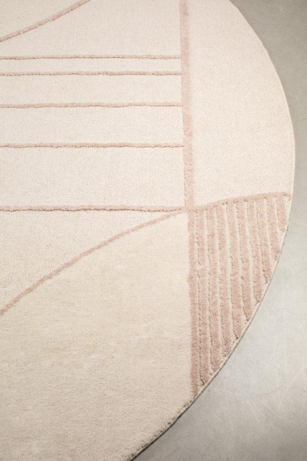 Zuiver Carpet Bliss 240' Natural/Pink  Vloerkleed