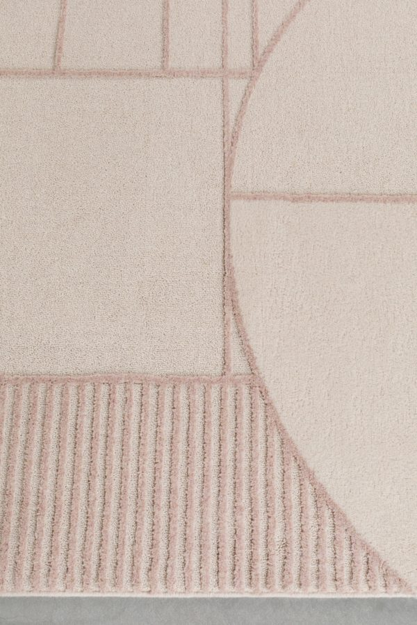 Zuiver Carpet Bliss 240X345 Natural/Pink  Vloerkleed