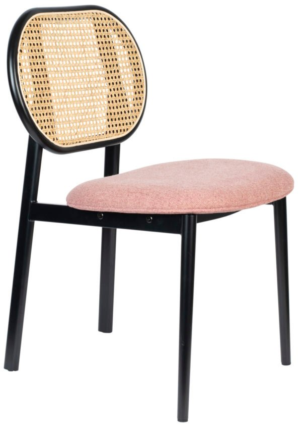 Zuiver Chair Spike Natural/Pink  Eetkamerstoel