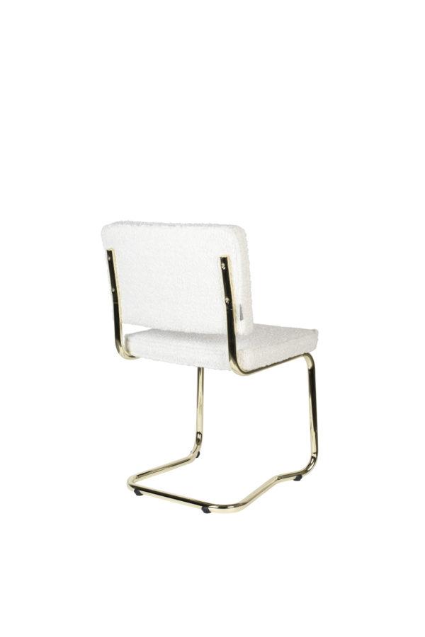 Zuiver Chair Teddy Kink White  Eetkamerstoel