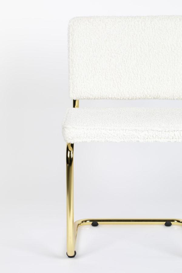 Zuiver Chair Teddy White  Eetkamerstoel