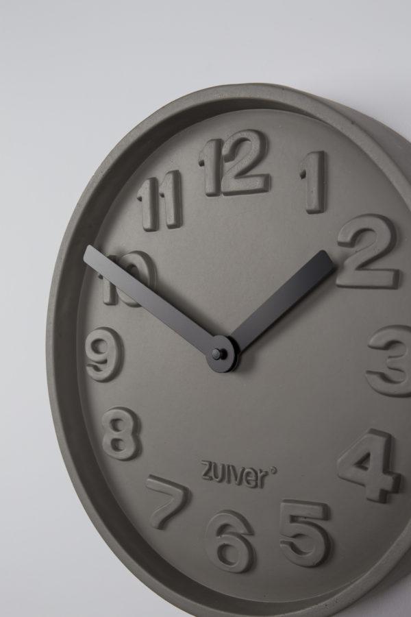 Zuiver Clock Concrete Time Black  Klok