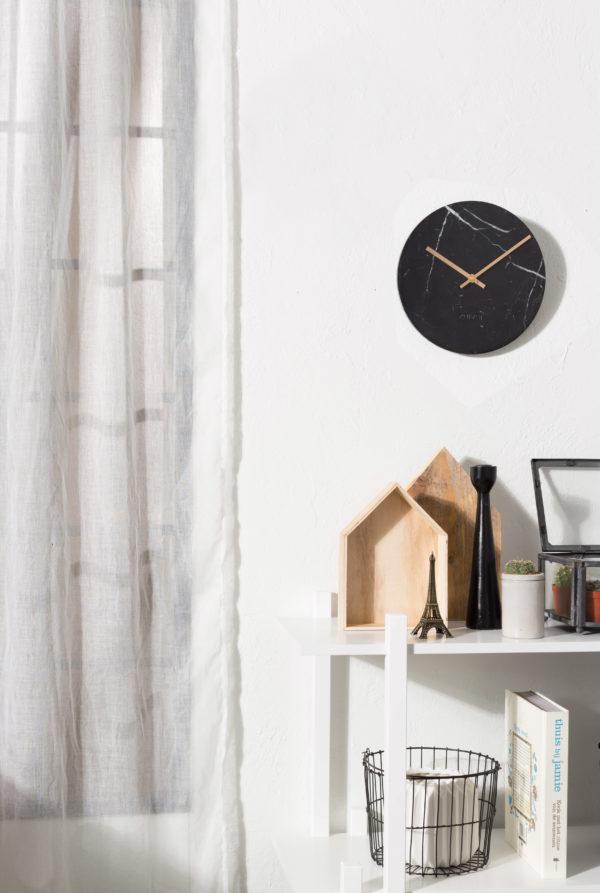 Zuiver Clock Marble Time Black  Klok
