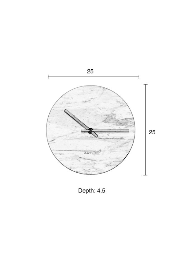 Zuiver Clock Marble Time Green  Klok