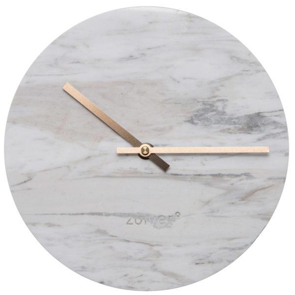 Zuiver Clock Marble Time White  Klok