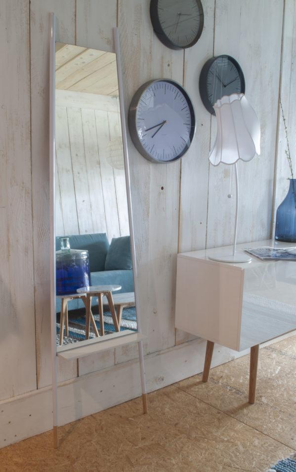 Zuiver Mirror Leaning White  Spiegel