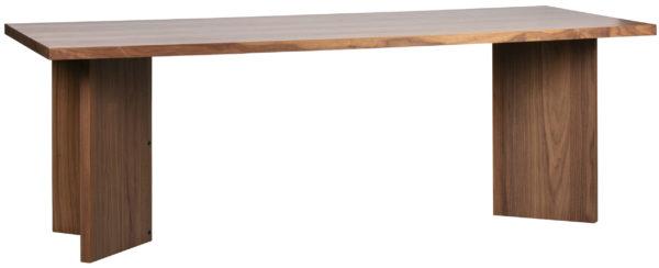 vtwonen Angle Eettafel Noten Blank mat Eettafel