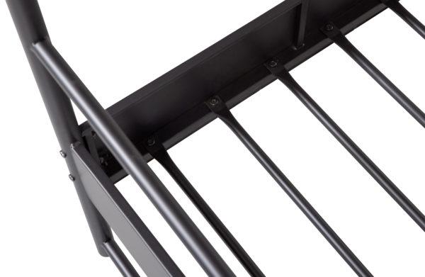 vtwonen Bunk Hemelbed Metaal Zwart 160x200cm Black Ledikant