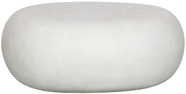 vtwonen Pebble Bijzettafel Betonlook Wit 31x65x49 White Eettafel