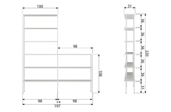 vtwonen Rack Variant 1 Metaal Wit White Woonaccessoire
