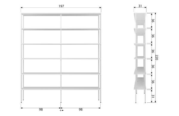 vtwonen Rack Variant 3 Metaal Wit White Woonaccessoire