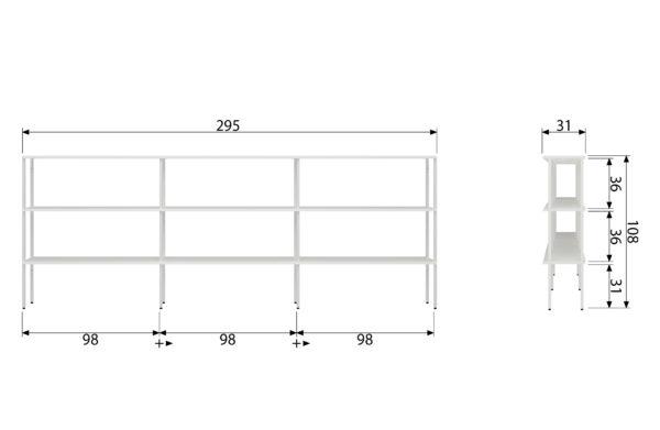 vtwonen Rack Variant 5 Metaal Wit White Woonaccessoire