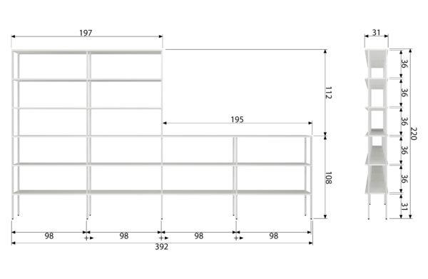 vtwonen Rack Variant 6 Metaal Wit White Woonaccessoire