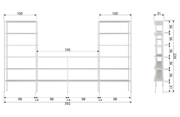 vtwonen Rack Variant 7 Metaal Wit White Woonaccessoire