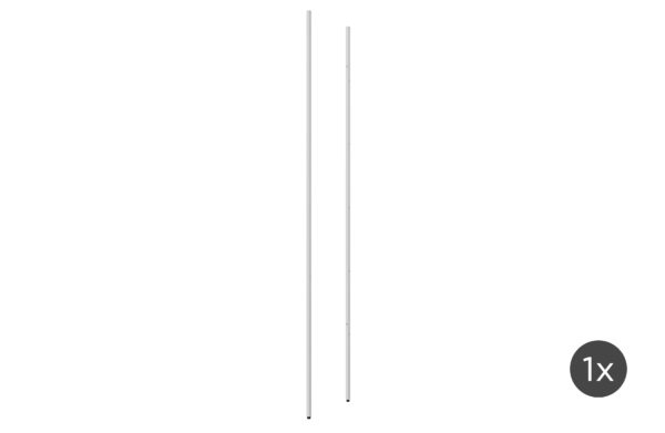 vtwonen Set V 2 - Rack Uprights High Middle Metaal Wit White Woonaccessoire