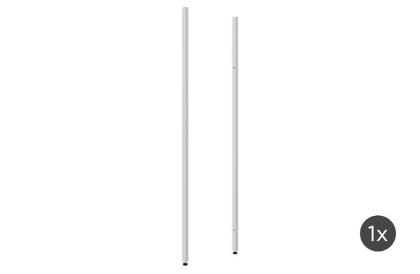 vtwonen Set V 2 - Rack Uprights Low Outer Metaal Wit White Woonaccessoire