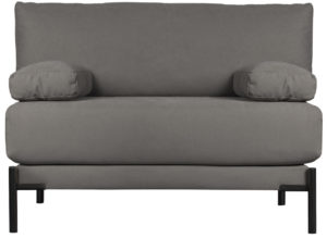 vtwonen Sleeve Loveseat Canvas Antraciet Anthracite Bank