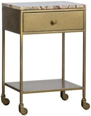 BePureHome Clinic Nachtkastje Marmer Antique Brass Antique brass Ledikant