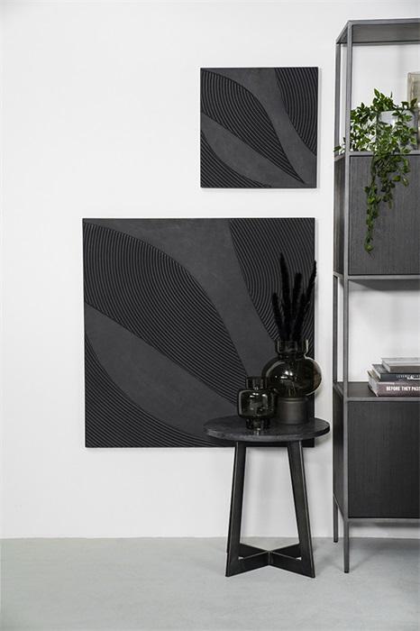 Tazi large square - black By-Boo Woonaccessoire 210128