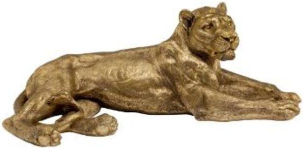 Beeld Figurine Lion Gold 81cm Kare Design Beeld 53360