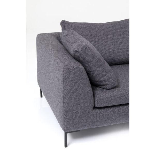 Hoekbank Sofa Gianni Dolce Dark Grey Right Kare Design Hoekbank 85983