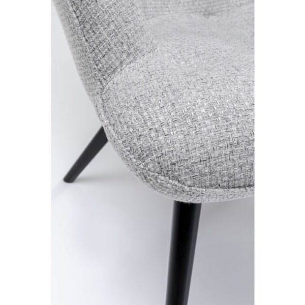 Oorfauteuil Vicky Dolce Light Grey Kare Design Oorfauteuil 86020