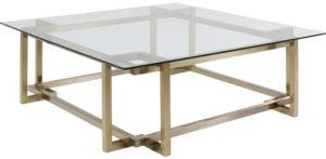 Salontafel Table Clara Gold 120x120 Kare Design Salontafel 85751