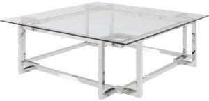 Salontafel Table Clara Silver 120x120cm Kare Design Salontafel 85752