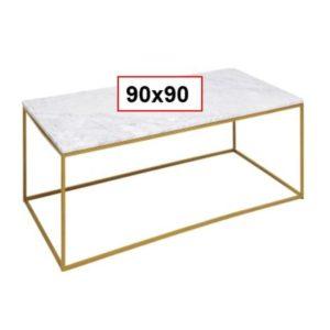 Salontafel Table Key West Gold 90x90cm Kare Design Salontafel 85873