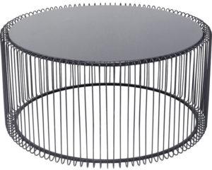 Salontafel Table Wire Uno Black Ø80cm Kare Design Salontafel 84514