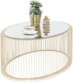 Salontafel Table Wire Uno Brass 60x90cm Kare Design Salontafel 84518
