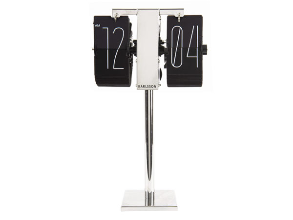 Flip Clock No Case Mini - Black Karlsson Klok KA5758BK