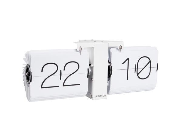 Flip Clock No Case Stand - White Karlsson Klok KA5602WH