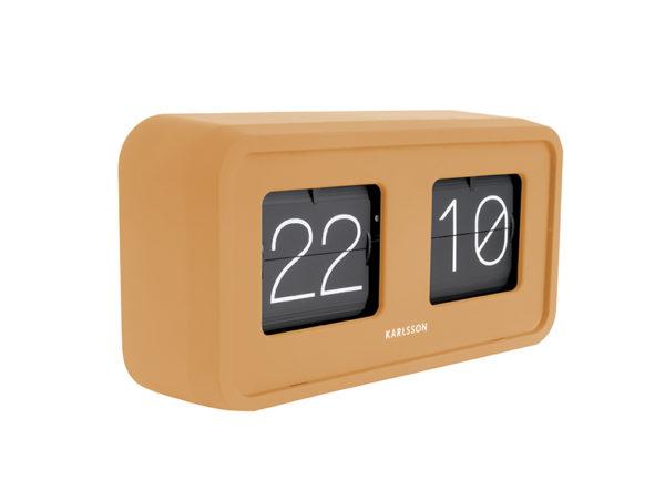 Table Clock Bold Flip - Curry yellow Karlsson Klok KA5712YE