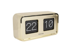Table Clock Bold Flip - Gold plated Karlsson Klok KA5712GD