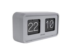 Table Clock Bold Flip - Grey Karlsson Klok KA5712GY