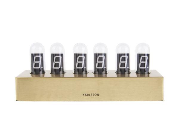 Table Clock Cathode Brushed - Gold Karlsson Klok KA4207
