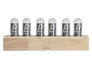 Table Clock Cathode Oak - Natural Karlsson Klok KA4204