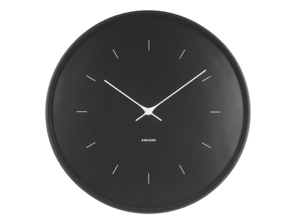 Wall Clock Butterfly Large - Black Karlsson Klok KA5707BK
